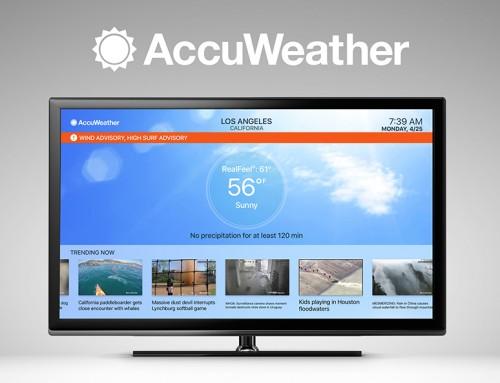 Una nueva app de AccuWeather para Apple TV Revoluciona la forma de ver el Tiempo
