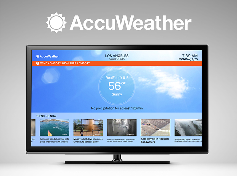 New AccuWeather App for Apple TV